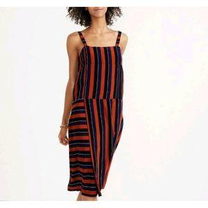 Madewell x No. 6 Silk Patchwork Stripe Shift Dress
